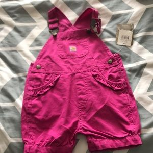 Pink Carhart overalls